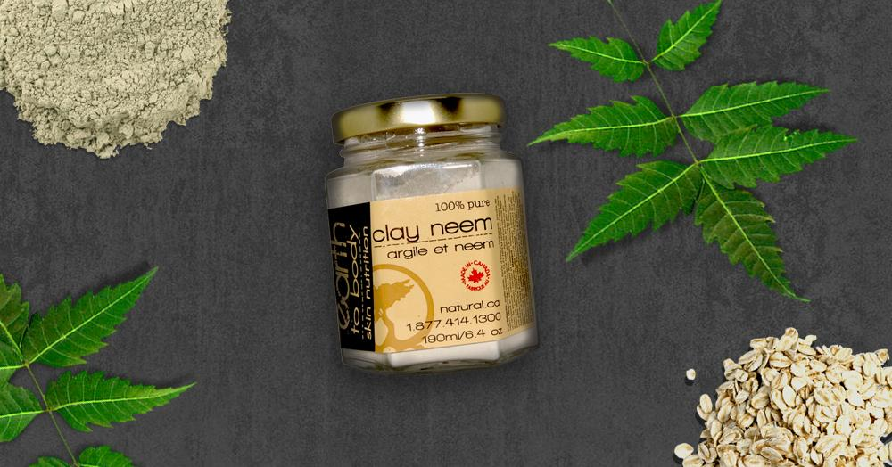 clay neem organic facial mask acne eczema