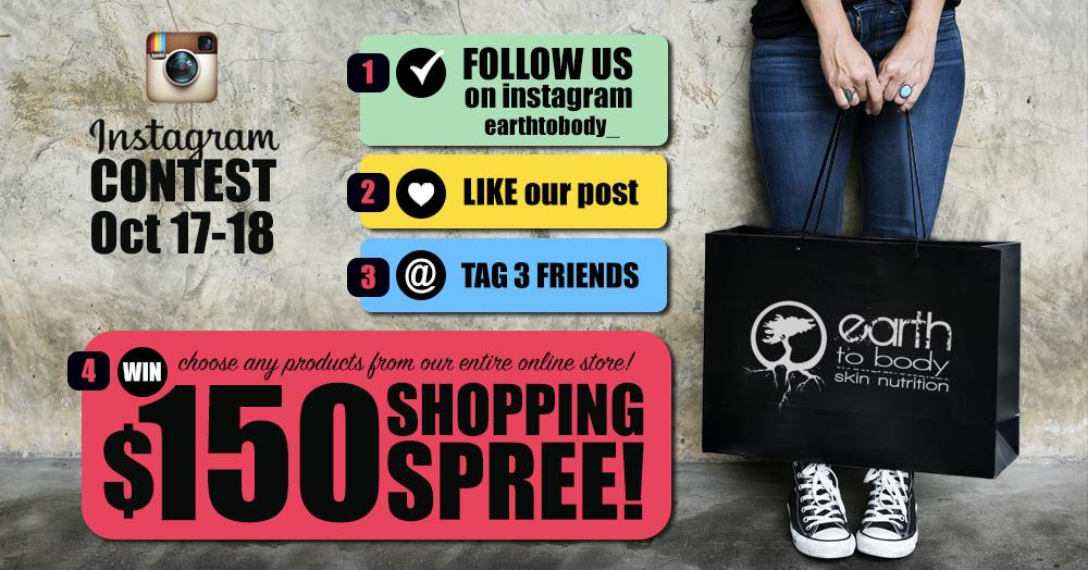 instagram contest will shopping spree all natural healing skin care cure